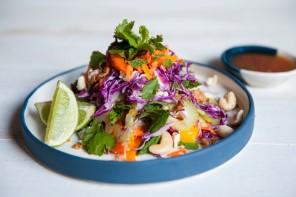 Coconut & lemongrass poached chicken salad