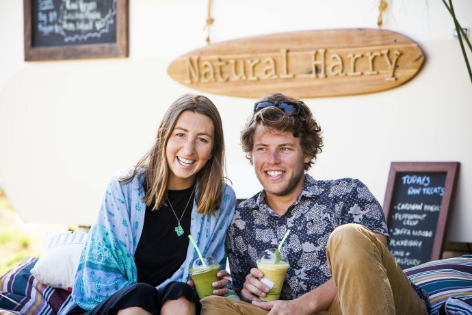 Natural Harry couple sitting