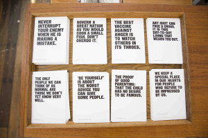 TSOL aphorisms postcards