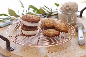 ANZAC ice cream sandwiches