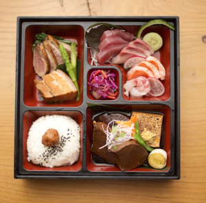 Bento box at Wabi Sabi